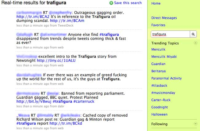Twitter Trafigura